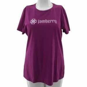 Next Level (2X) Jamberry Graphic Shirt Purple Top
